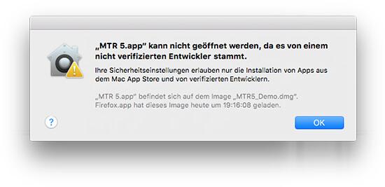 Gatekeeper - Mac App Store & verifizierte Entwickler