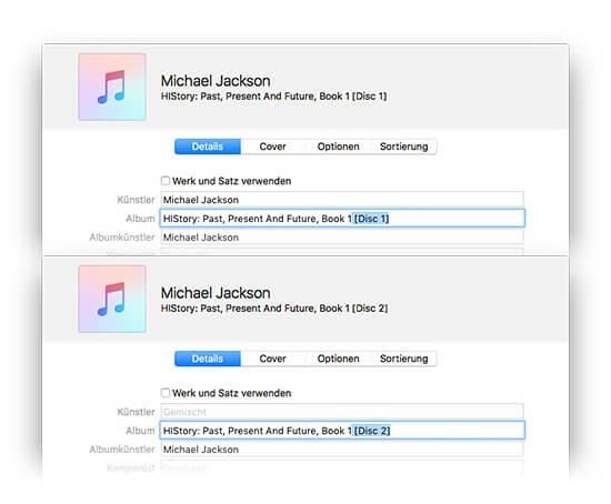 iTunes Album-Informationen