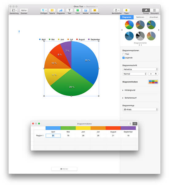 iWork Pages - Diagramm