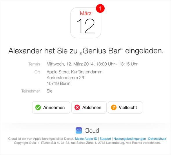 kalender – termine erstellen & teilen - maceinsteiger.de, Einladung