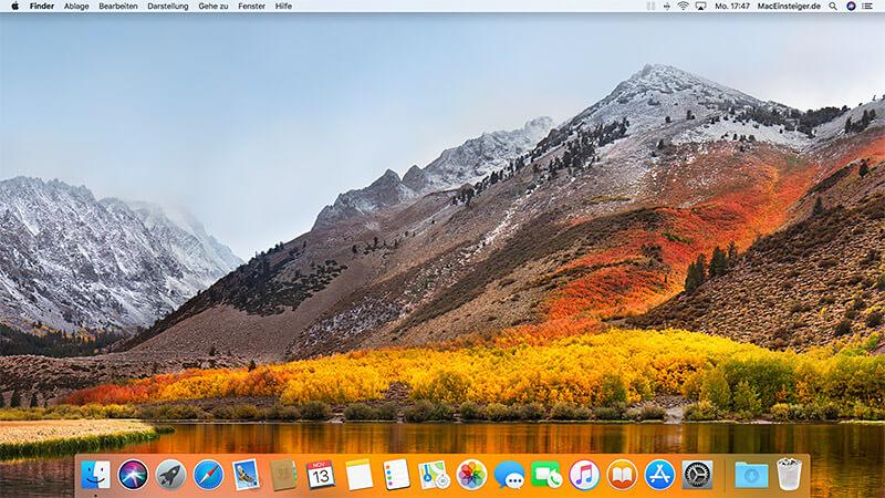 macOS Schreibtisch - Desktop