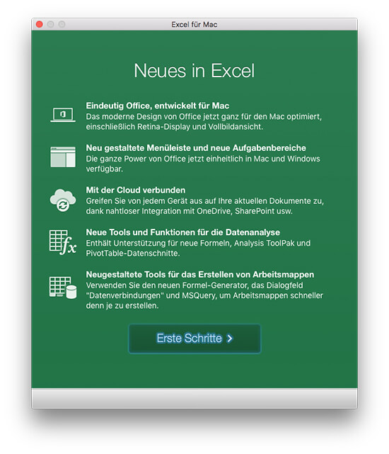Microsoft Office 2016 - Neues in Excel