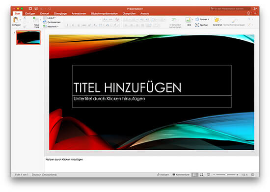 Microsoft Office 2016 - PowerPoint für Mac