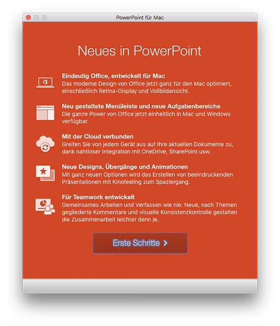 Microsoft Office 2016 - Neues in PowerPoint