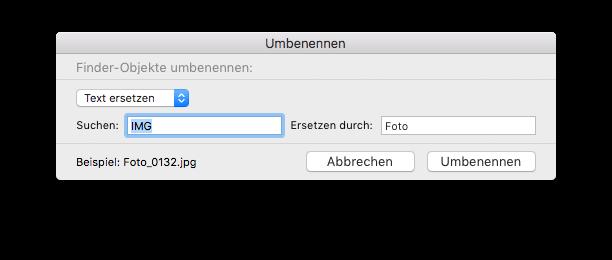 Dateien umbennen - Text ersetzen