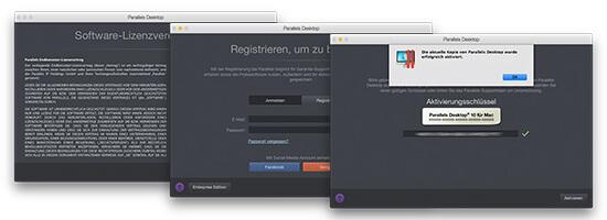Parallels Desktop für Mac Installation