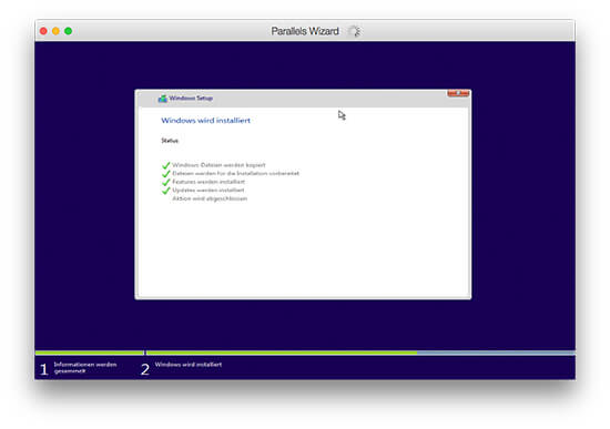 Parallels Desktop - Windows Setup