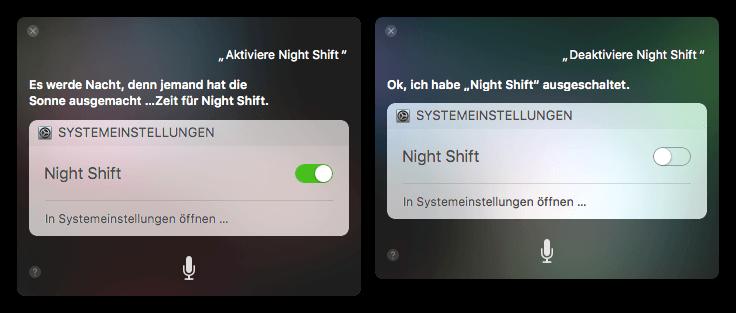 Siri Night Shift aktivieren deaktivieren