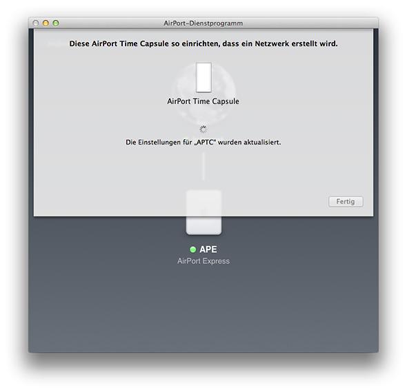 AirPort-Dienstprogramm - Time Capsule aktualisieren