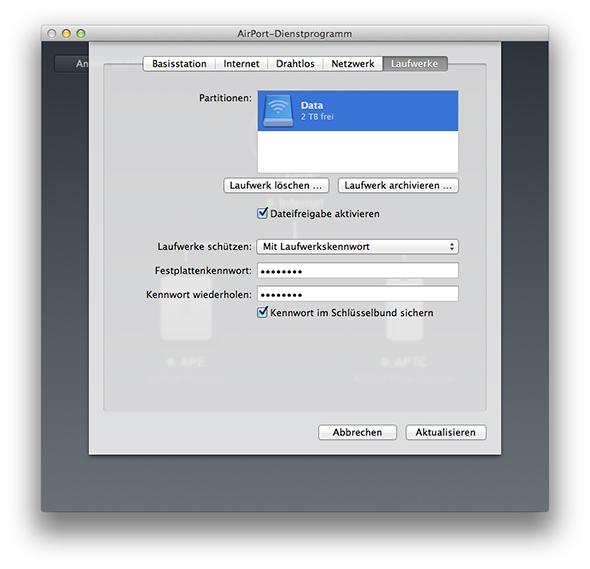 AirPort-Dienstprogramm - Time Capsule Netzwerk