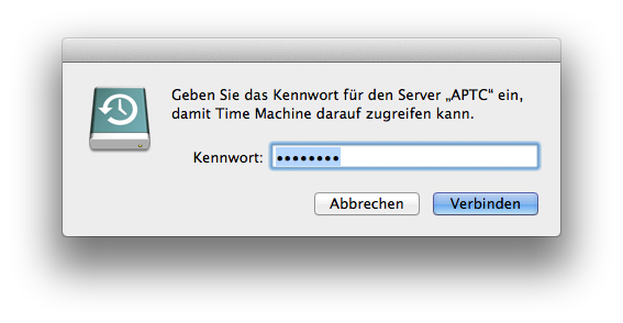 Time Machine - Time Capsule Kennwort