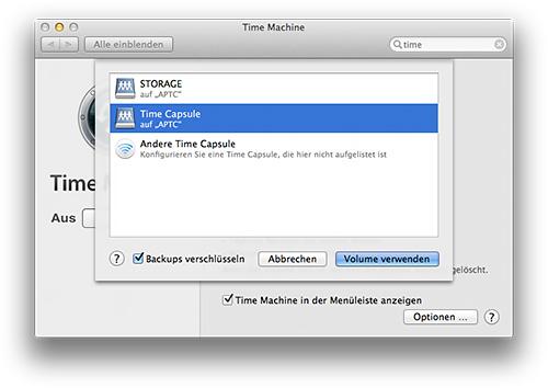 Time Machine Backup verschlüsseln