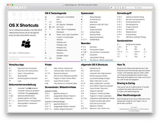 short cut for highlight in pdf reader mac