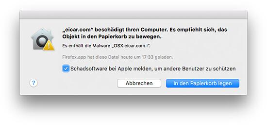 OS X Xprotect - Bekannte Malware